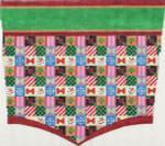ab217 A. Bradley christmas ptchwk stocking cuff 11 x 13  18 Mesh