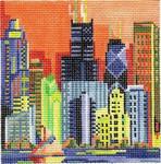 ab219d A. Bradley chicago skyline 4 ½ x 4 ½ 18 Mesh