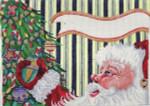 ab220 A. Bradley santa profile stocking cuff  8 x 10 18 Mesh