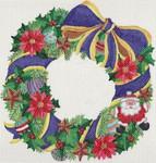 ab221 A. Bradley christmas wreath8 x 8  18 Mesh