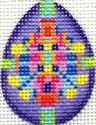 ab223y  A. Bradley purple jeweled mini-egg 1.5 x 2 18 Mesh
