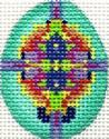 ab223x A. Bradley aqua jeweled mini-egg 1.5 x 2 18 Mesh