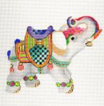 ab261 A. Bradley decorated elephant 6 x 7 18 Mesh