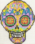 ab327 A. Bradley day of the dead skull #4 3 x 4 18 Mesh
