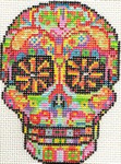 ab326 A. Bradley day of the dead skull #3 3 x 4 18 Mesh