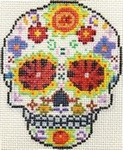 ab324 A. Bradley day of the dead skull #1 3 x 4 18 Mesh