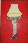 """ab311b A. Bradley """"A Christmas Story"""" pillow 9 x 13 13 Mesh With SG311b stitch guide by Cynthia Thomas"""