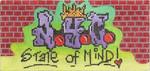 ab321 A. Bradley n.y.c. graffiti subway insert6 x 2.75 18 Mesh