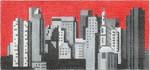 ab318 A. Bradley b/w boston cityscape 6 x 2.75 18 Mesh
