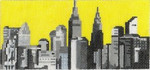 ab315 A. Bradley  b/w new york cityscape 6 x 2.75 18 Mesh