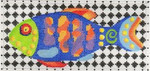 ab313 A. Bradley colorful fish insert 6 x 2.75 18 Mesh