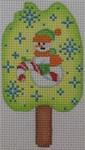ab335m A. Bradley snowman popsicle 2 x 3  18 Mesh
