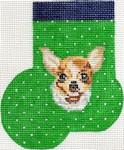 ab338 A. Bradley chihuahua Mini-Sock 3 x 4 18 Mesh