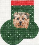 ab366 A. Bradley norfolk terrier mini-sock 3 x 4  18 Mesh