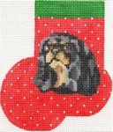 ab348 A. Bradley King Charles blk/tan mini-sock 3 x 4  18 Mesh