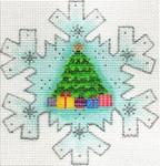 ab416 A. Bradley nutcracker tree snowflake 4 ½ x 4 ½ 18 Mesh