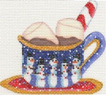 ab423 A. Bradley hot cocoa ornament 4 x 3.5 18 Mesh