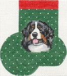 ab370 A. Bradley bernese Mountain dog mini-sock 3 x 4 18 Mesh