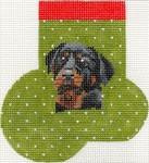 ab373 A. Bradley rottweiler mini sock 3 x 4 18 Mesh