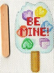 ab335b A. Bradley February popsicle 2 x 3 18 Mesh With stitch guide by Cynthia Thomas…