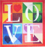 HO196 Raymond Crawford Designs  With Stitch Guide 6 x 6 Love