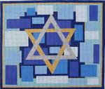 HO514 Raymond Crawford Designs 11 x 13, 14 Mesh STAR OF DAVID TALLIS BAG BLUE