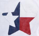 HO739 Texas Star Ornament 5 x 5, 18 Mesh Raymond Crawford Designs