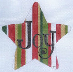 HO791 RED/GREEN JOY STAR 5 x 5, 18 Mesh Raymond Crawford Designs