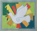 HO1086 Raymond Crawford Designs PEACE DOVE TALLIS 11x13, 18 Mesh