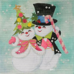 HO1123 SNOW COUPLE 9 X 9 18 Mesh Raymond Crawford Designs