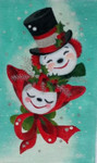 HO1130 JOLLY SNOW COUPLE 7 X 11.5 18 Mesh Raymond Crawford Designs