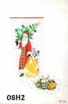"08H2 MM Designs Santa Holding Christmas Tree & Bag of Gifts 14"" x 23"" 13 Mesh STOCKING"