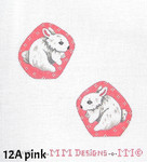 "12A MM Designs pink White Bunny Ornament/ Two Sides Size: 3"" x 3""  EASTER"