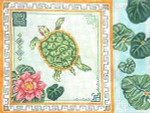 "220G MM Designs 13 mesh Size: 9"" x 12""  Turtle & Lily Pads"