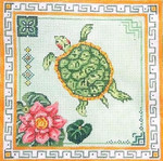 "220GX MM Designs Size: 10"" x 10""""   Turtle & Lily Pads"
