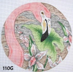 "110G MM Designs 18 mesh 10"" Round Flamingo"