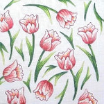"16G MM Designs 13 mesh Size: 12"" x 12"" Tulips"