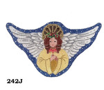 "242J MM Designs Snow Queen Angel/ Gold Robe  Size: 3 1/2"" x 6""  Christmas Ornament"