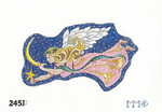 "245J MM Designs Snow Queen Angel Holding Star & Crescent Moon Size: 4"" x 7"""