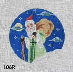 106R MM Designs Santa w/Gift Bag/ Moon & Clouds