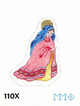 "110X MM Designs Mary Size: 3"" x 4 1/2""  18 Mesh Nativity"