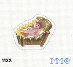 "112X MM Designs Baby Jesus Size: 2"" x 3""  18 Mesh Nativity"