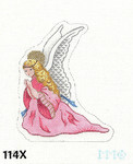 "114X MM Designs Kneeling Angel Size: 5 1/2"" x 4 1/2""  18 Mesh Nativity"