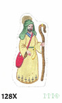 "128X MM Designs Shepherd Man #2 Size: 3"" x 6""  18 Mesh Nativity"