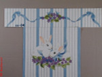 CBK Bettieray Designs CC-04 Violets With Bunnies 13 Mesh Child's Director Chair Seat