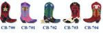 "CB-701 Purple Boot with Horse 18 5.5""  18 Mesh Bettieray Designs"