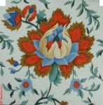 "PF-1535 Jacobean Jewels 18 Mesh 12"" Flowers CBK Bettieray Designs"