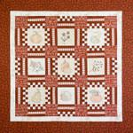 """Crabapple Hill Studio Harvest Hopscotch  Item Number: 12-2269  Size: 55"""" x 55"""""""