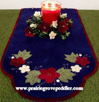 Prairie Grove Peddler, The Table Toppers-Folk Art Flowers(Wool) 15x36