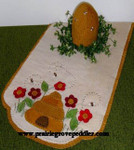 Prairie Grove Peddler, The Table Toppers-Honey Bees (Wool) 15x36